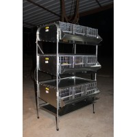 "30"" 3 Tier Breeding Quail  Pen ""PVC floor"" (9 Sections)"