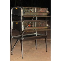"36""H.D Double Rack  Quail Breeding Pen (4 Sections)"