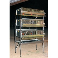 "36"" H. D Triple Rack Quail Cage Breeding & Community Cage (4 Sections)"