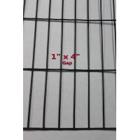 "36"" x 50 ft.  13  Gauge , Black PVC Coated Welded Wire Metal Mesh Size 1 in. x 4 i n"