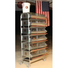 6 Tier Breeding Battery Community Quail cage