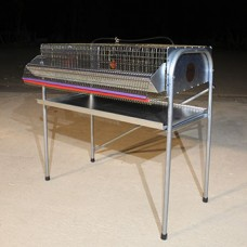 "36"" Heavy Duty Quail Cage with feeder/egg protection"