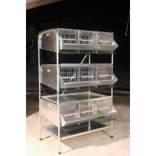"36""   3 Tier Pen Community quail Cages  ( 3 Tier )"